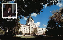 State Capitol and Governor Richard F. Kneip