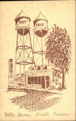 Water Towers Postcard