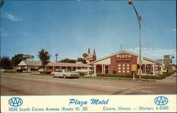 Plaza Motel and Restaurant Postcard