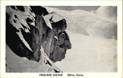 Indian Head - Rock Formation in the Snow