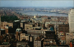View of City and Charles River from Custom House Tower