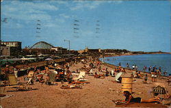 Panoramic View of Beach showing famous Paragon Park in Background