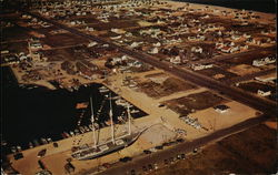Aerial View of the Schooner Lucy Evelyn - 140' length, 32' beam, 10' draft - Built 1917