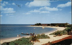 World Famous Private Beach at Half Moon Hotel Postcard