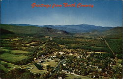 Greetings - Aerial View of Village Nestled in the Saco River Valley