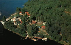 Aerial View of Ogilvie's Portage Lodge