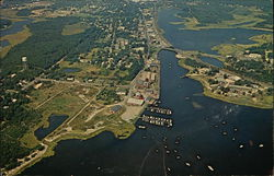 Aerial View of Cape Cod - River and Main Street