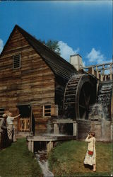The Slitting Mill With Two Overshot Water Wheels, Saugus Iron Works Postcard