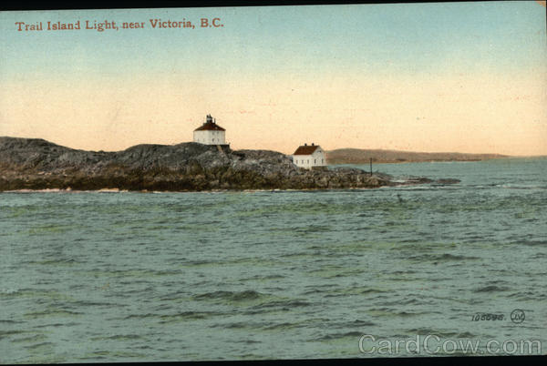 Water View of Trail Island Light Victoria Canada British Columbia