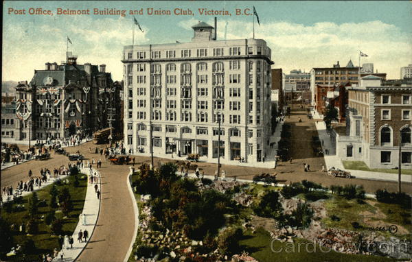 Post Office, Belmont Building, and Union Club Victoria Canada