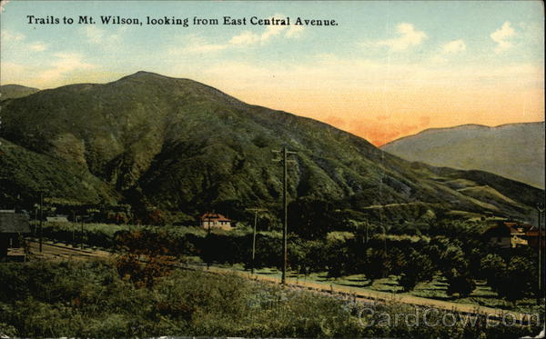 Trails to Mt. Wilson, looking from East Central Avenue San Diego California