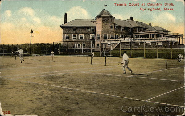Tennis Court at Country Club Springfield Massachusetts