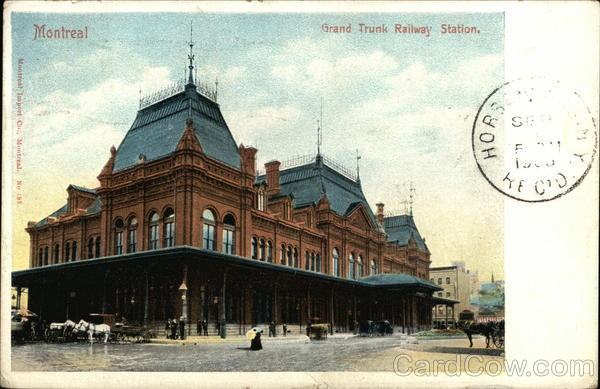 Grand Trunk Railway Station Montreal Canada Quebec