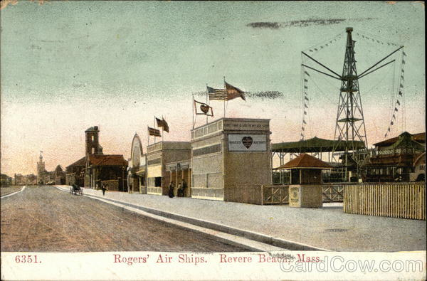 Rogers' Air Ships Revere Beach Massachusetts