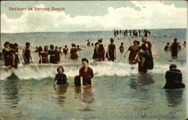 Bathers at the Beach Revere Beach Massachusetts