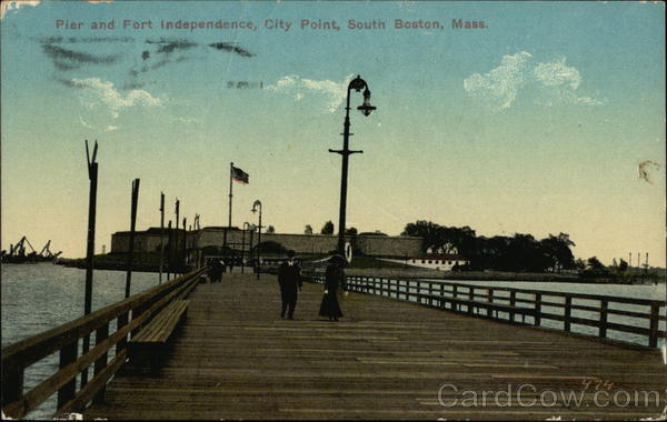 Pier and Fort Independence, City Point Boston Massachusetts