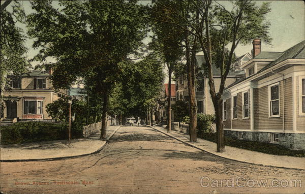 Residential View on Brown Avenue Roslindale Massachusetts
