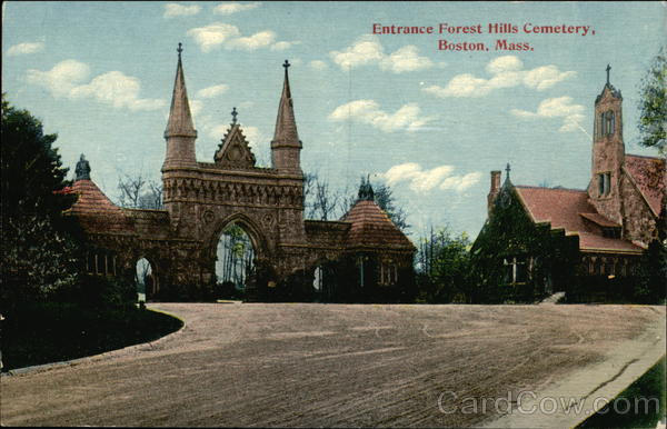 Entrance to Forest Hills Cemetery Boston Massachusetts