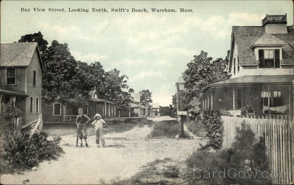 Bay View Street, looking North, Swift's Beach Wareham Massachusetts