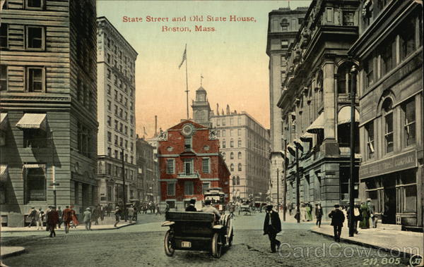 State Street and Old State House Boston Massachusetts