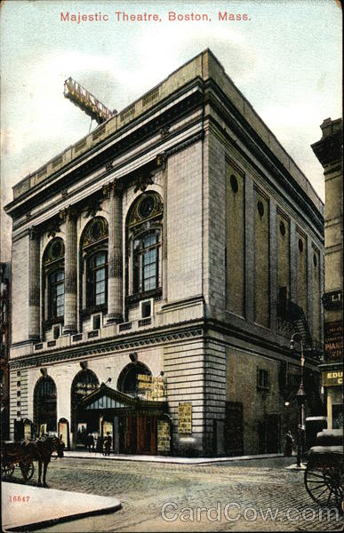 Street View of Majestic Theatre Boston Massachusetts