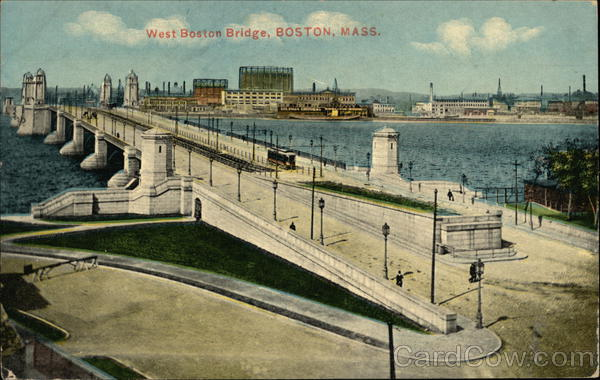 Bird's Eye View of West Boston Bridge Massachusetts