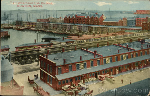 Wharf and Fish District Boston Massachusetts