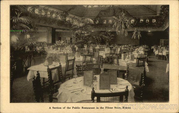 A Section of the Public Restaurant in the Filene Store Boston Massachusetts