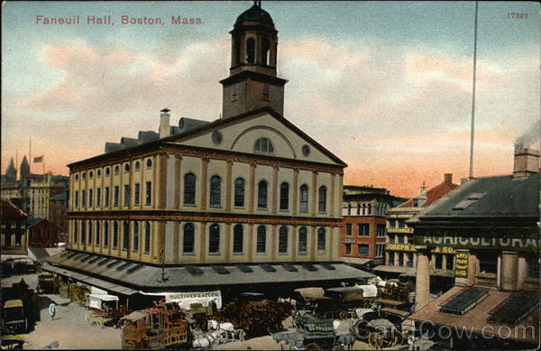 Bird's Eye View of Faneuil Hall Boston Massachusetts