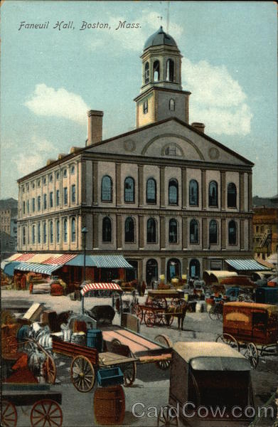 Street View of Faneuil Hall Boston Massachusetts