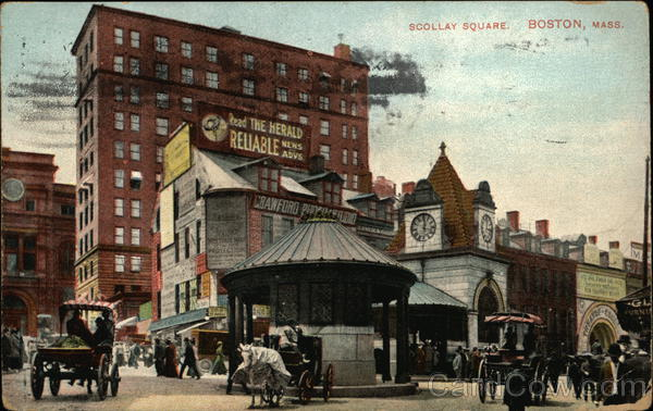 Busy Scollay Square Boston Massachusetts