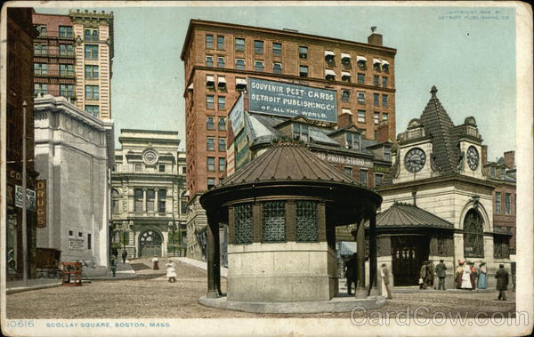 Scollay Square View Boston Massachusetts