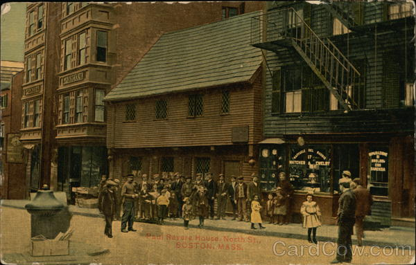 Paul Revere House on North Street Boston Massachusetts