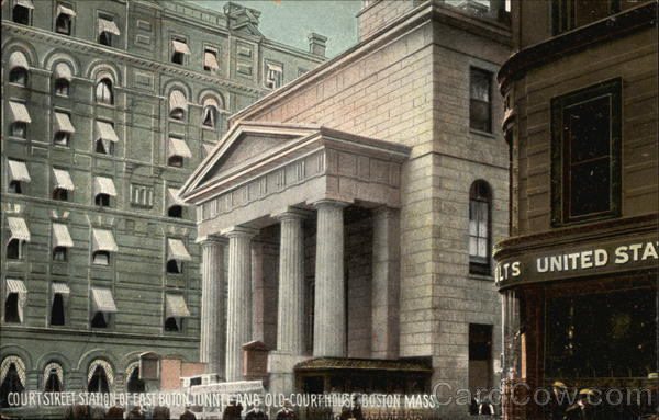 Court Street Station of East Boston Tunnel and Old Court House Massachusetts