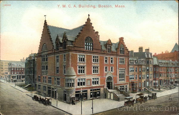 Bird's Eye View of YMCA Building Boston Massachusetts