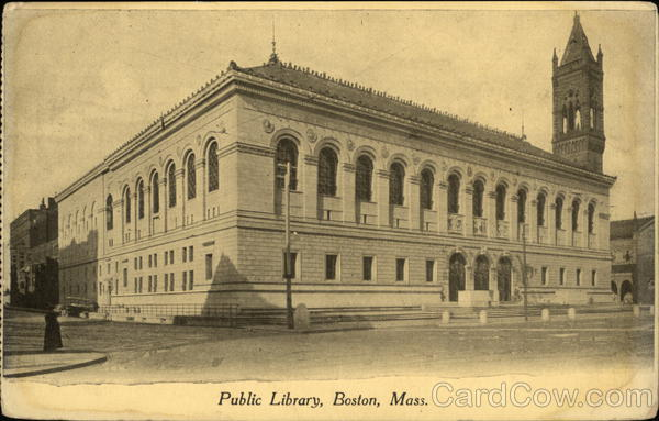 Public Library Boston Massachusetts