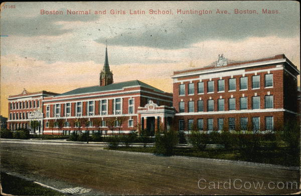Boston Normal and Girls Latin School, Huntington Ave. Massachusetts