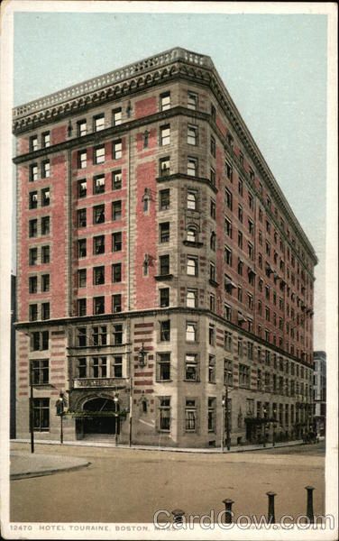 Street View of Hotel Touraine Boston Massachusetts