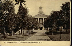 Livingston County Court House Postcard