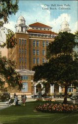 View of City Hall from the Park Postcard