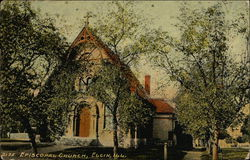 Street View of The Episcopal Church Postcard
