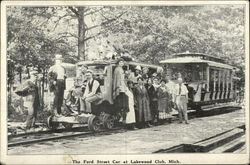 Riders Aboard The Ford Street Car