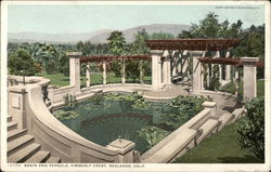 Basin and Pergola at Kimberly Crest
