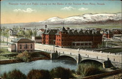 Riverside Hotel and Public Library on the Banks of the Truckee River