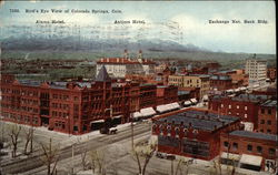 Bird's Eye View of Alamo Hotel, Antlers Hotel, and Exchange National Bank Building