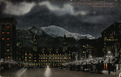 Pike's Peak Avenue at Night