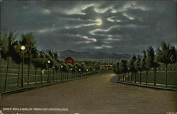 Speer Boulevard, by Moonlight