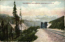 Train Emerging From Snowsheds, Ogden Route, S. P. R. R.