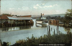 Steamer Penn Yan Entering Dock