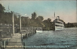 Steamer City of Pittsburg at Bemus Point on Chautauqua Lake